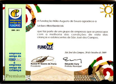 Prêmio Empresa Amiga da FUNDHAS